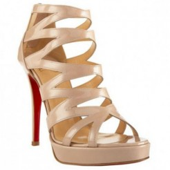 Replica Christian Louboutin Fernando 120mm Sandals Nude Cheap Fake Shoes