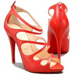Replica Christian Louboutin Croisilleta 120mm Sandals Red Cheap Fake Shoes