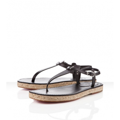 Replica Christian Louboutin Hovercraft Sandals Black Cheap Fake Shoes